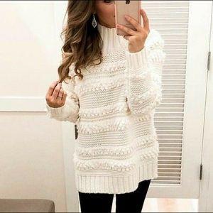 Loft cream Snowbird sweater